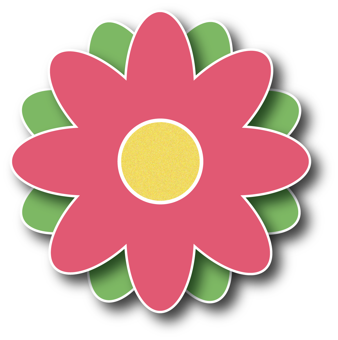 March Flowers Clipart.