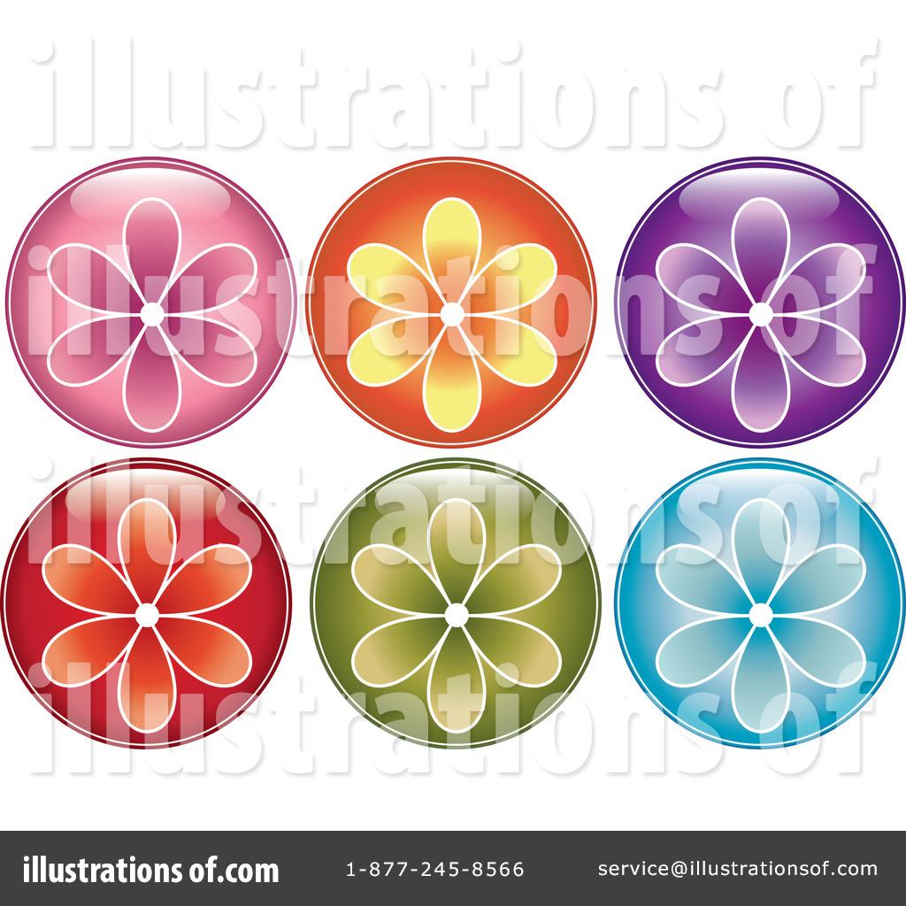 Flower Button Clipart #433821.
