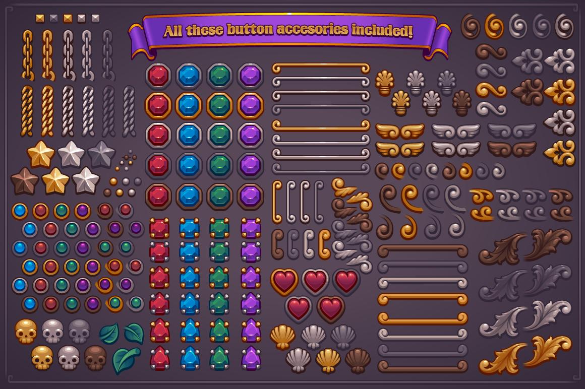 Fantasy Game Button Maker on Behance.