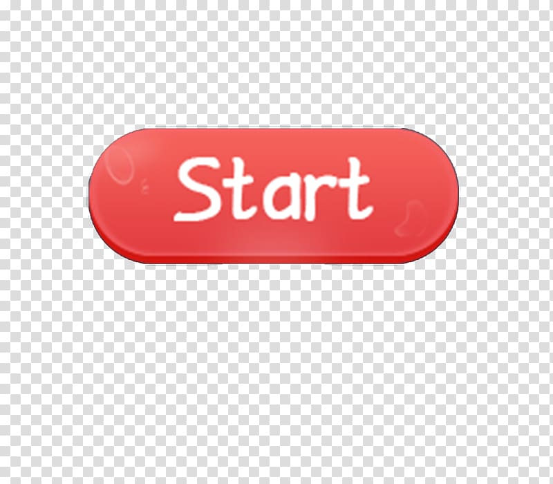 Red and white start button , Logo Brand Red Font, The Start.