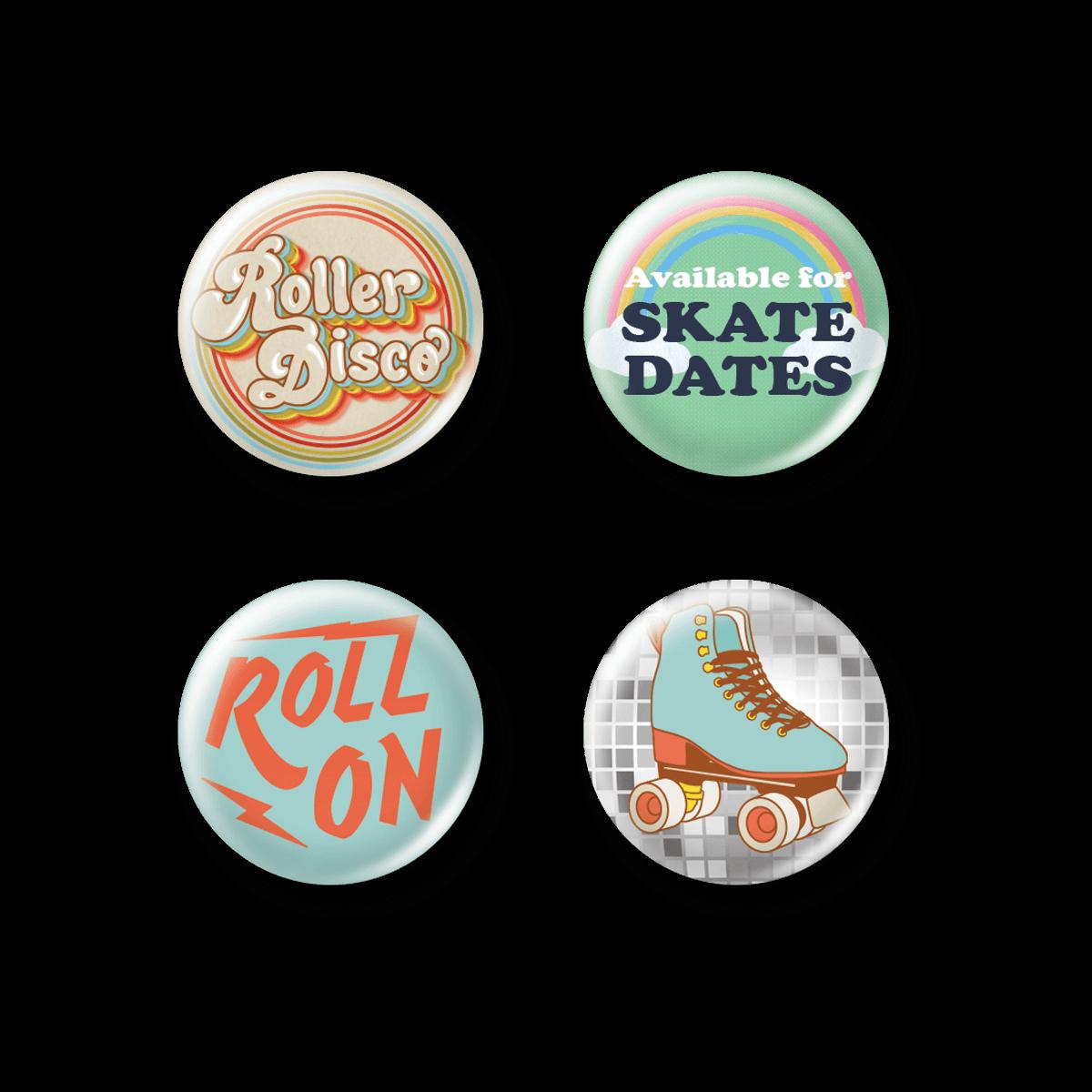 Retro Button Pins.