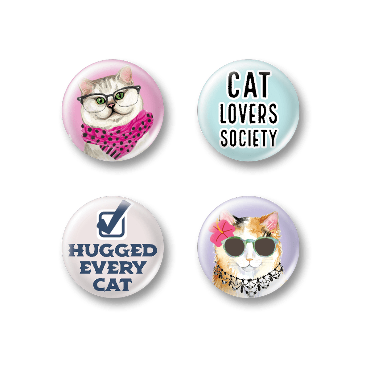 Cat Lover Button Pins.