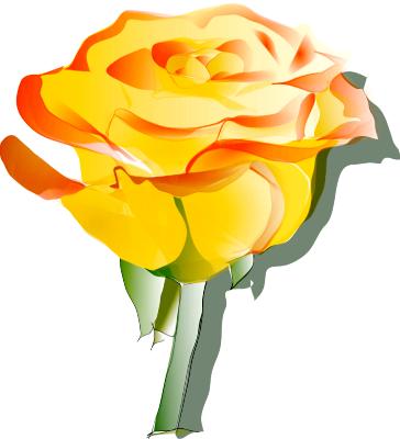Yellow roses clip art.