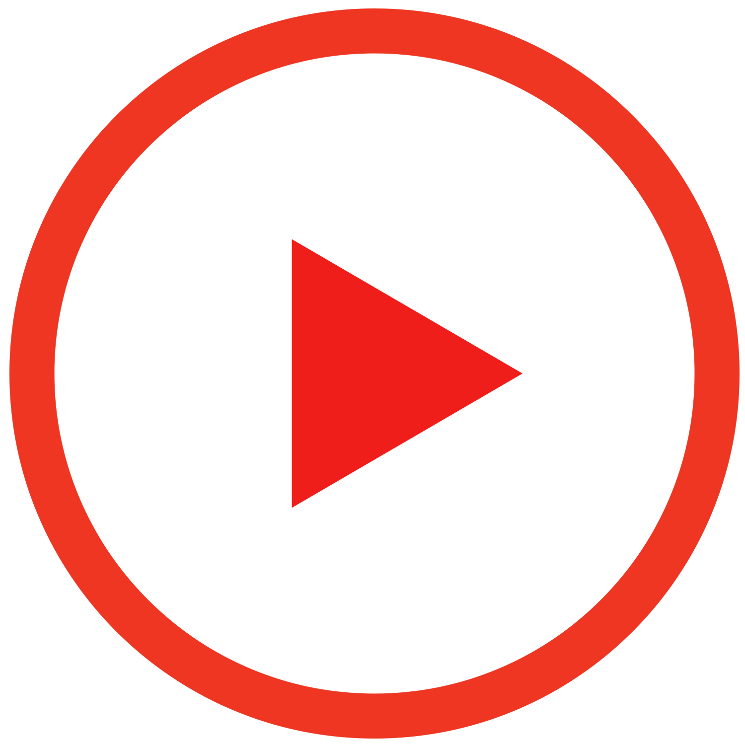 Play Red Outline Button transparent PNG.
