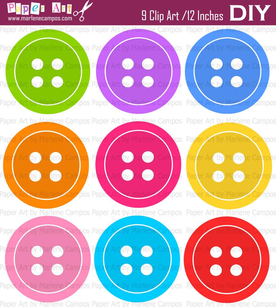 Buttons Clip Art Free.