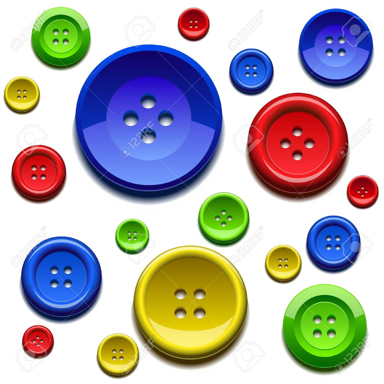 Clothing buttons clip art.