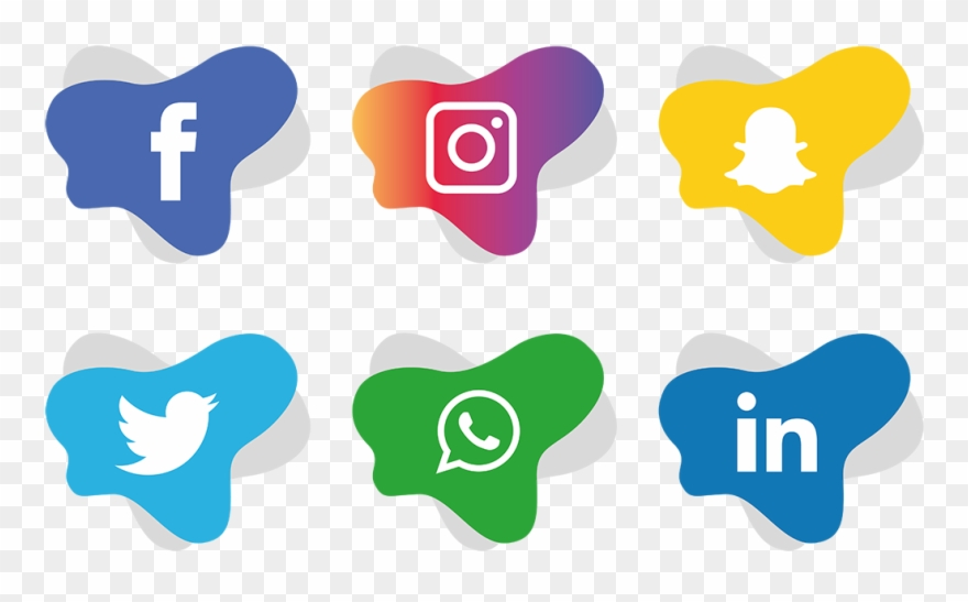 Social Media Icons Facebook Like And Love Buttons Png.