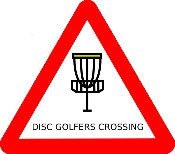 Disc Golf Silhouette Clipart.