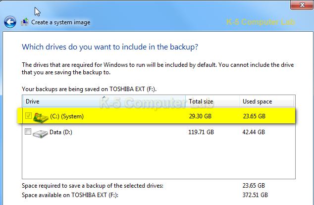 Windows 7 Disk Imaging.
