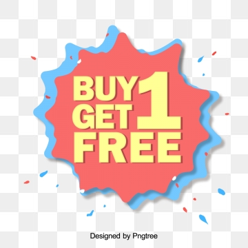 Buy One Get One Free PNG Images.
