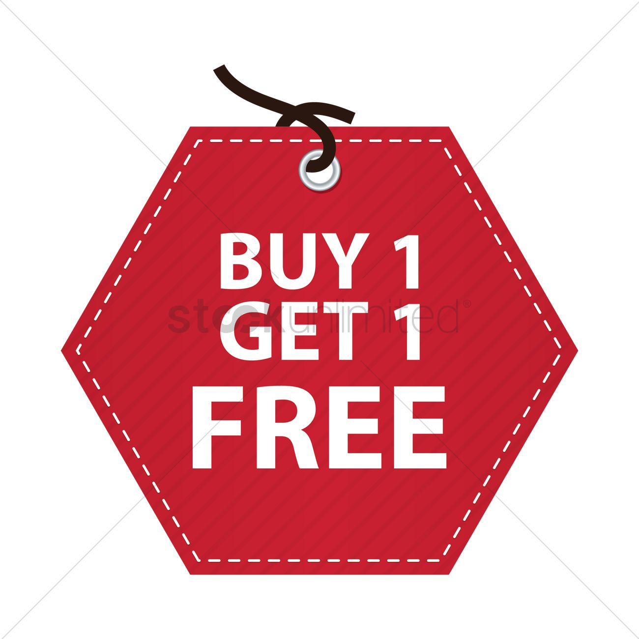 Free Buy one get one free tag Vector Image.