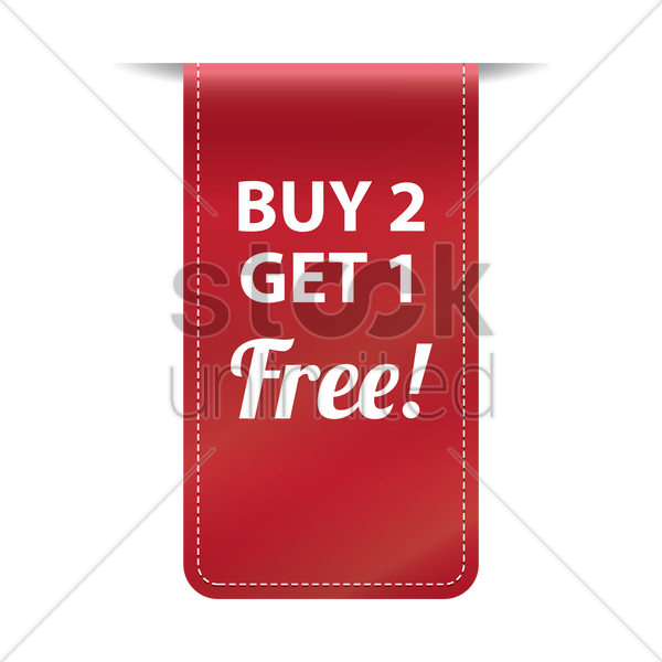 Free Buy two get one free banner Vector Image.