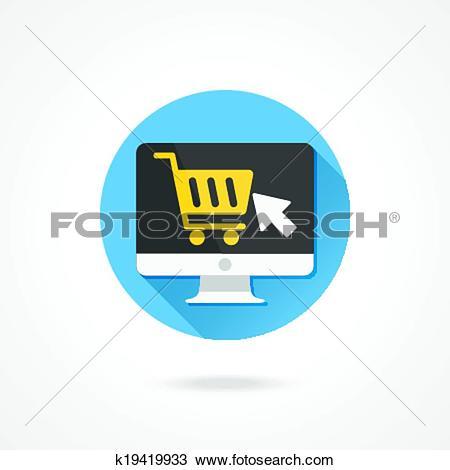 Clipart of Vector Computer Display Buy Online k19419933.
