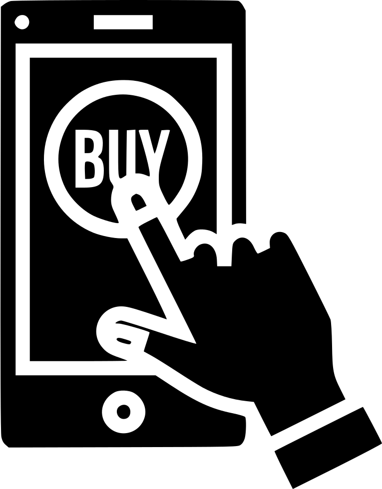 Mobile Online Store Shop Buy Sell Product Hand Gesture Svg Png Icon.