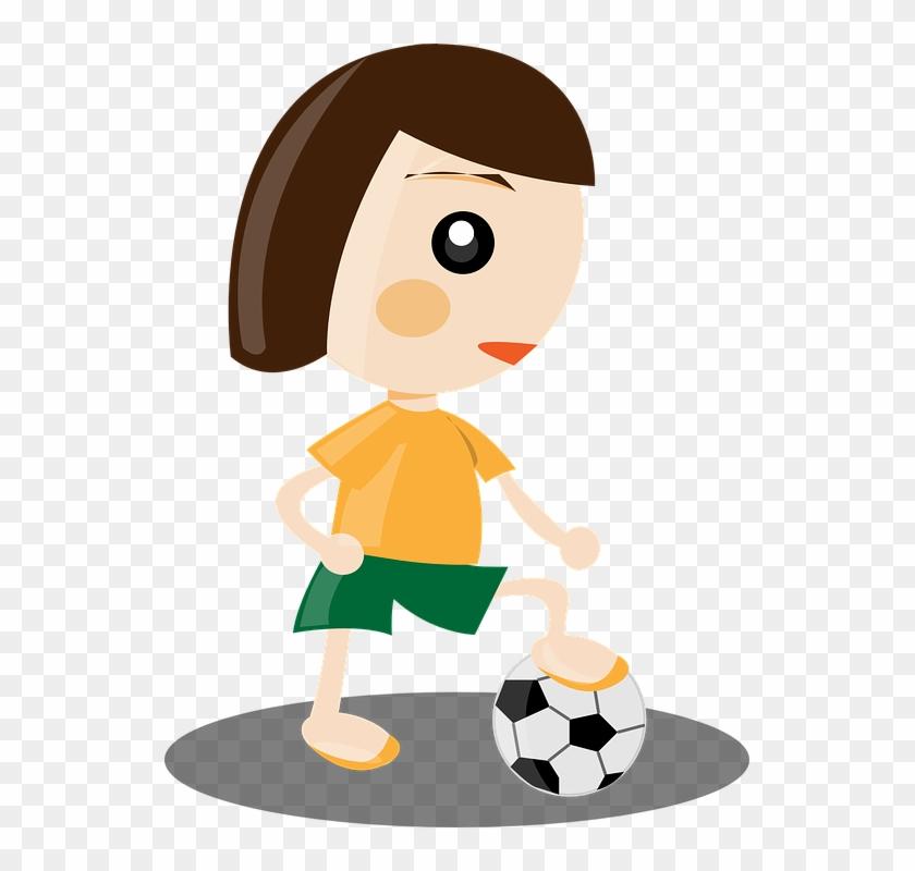 Boy Playing Football Cartoon 14, Buy Clip Art.