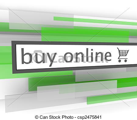 Clipart of Buy Online Bar.