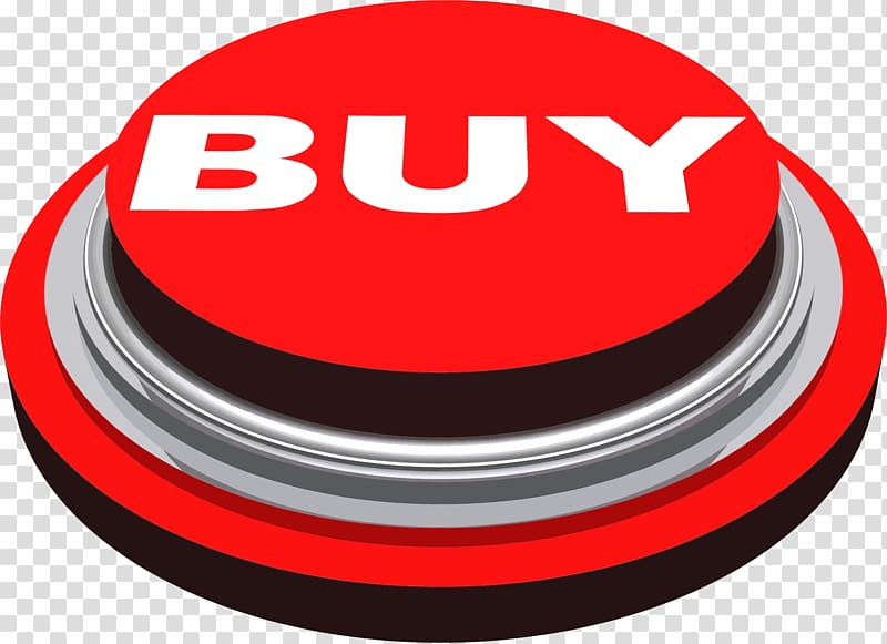 Red buy press button icon, Buy Press Button transparent.