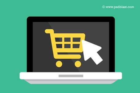 Flat Buy Online Icon (PSD) Clipart Picture Free Download.