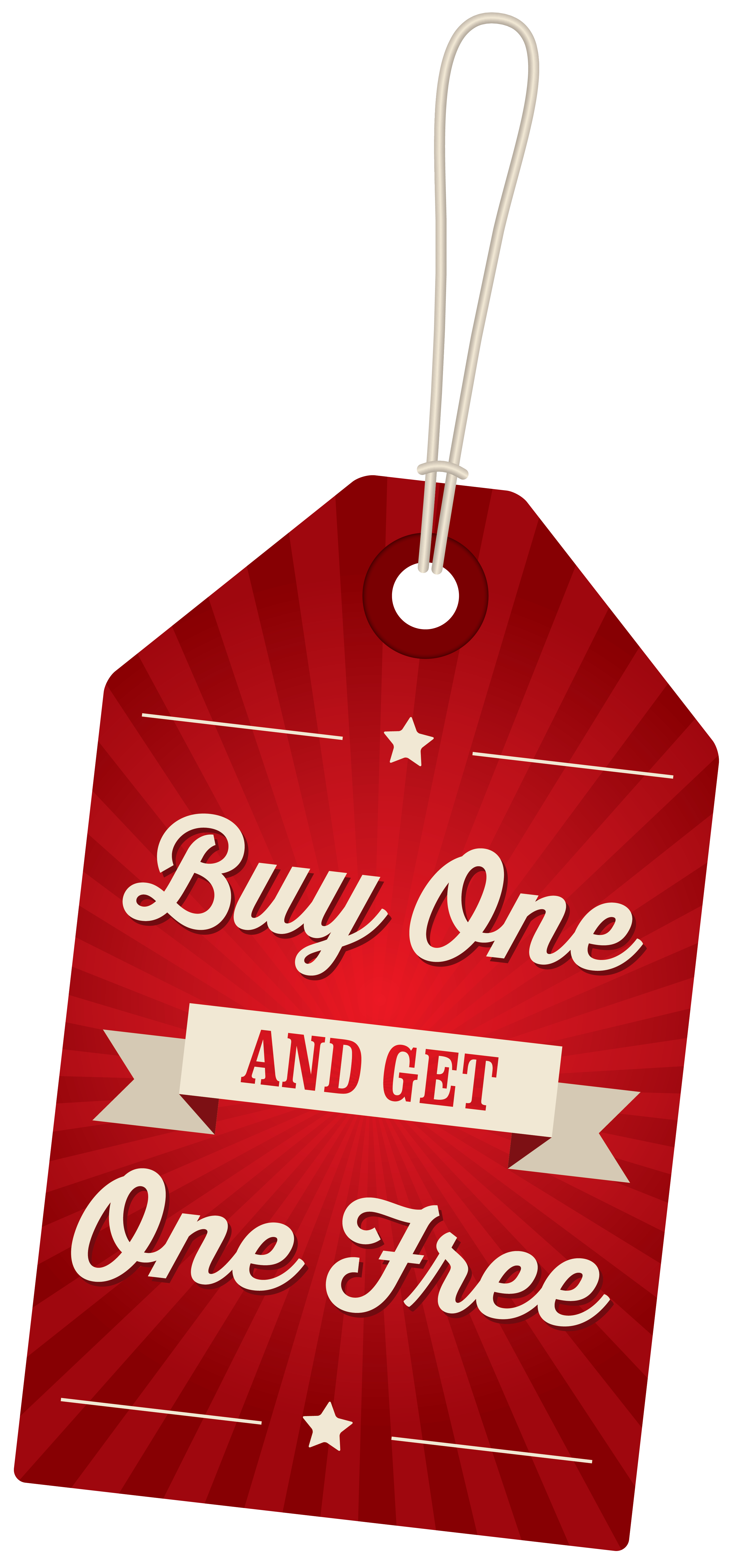 Buy One Get One Free Label PNG Clipart Image.