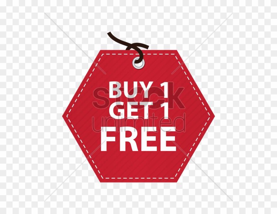 Buy One Get One Free Tag V矢量图形.