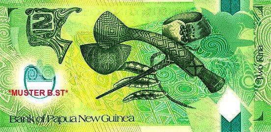 2 Kina 2013 Papua New Guinea 0045 / BV / Plastik / Sign.12 / Serie BV / GBN