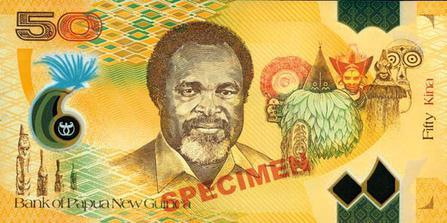 Papua New Guinean kina.