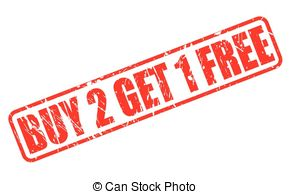 Buy 2 get 1 free Clip Art Vector and Illustration. 43 Buy 2 get 1.
