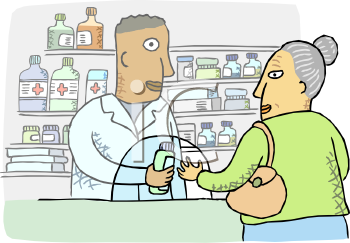 Pharmacy Buyer Clipart.