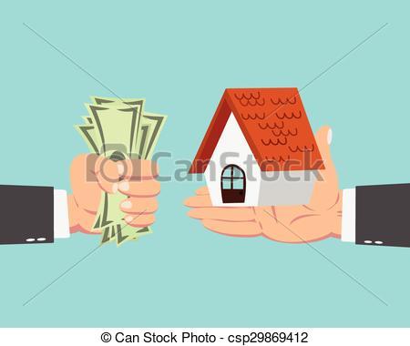 Businessman buying house.