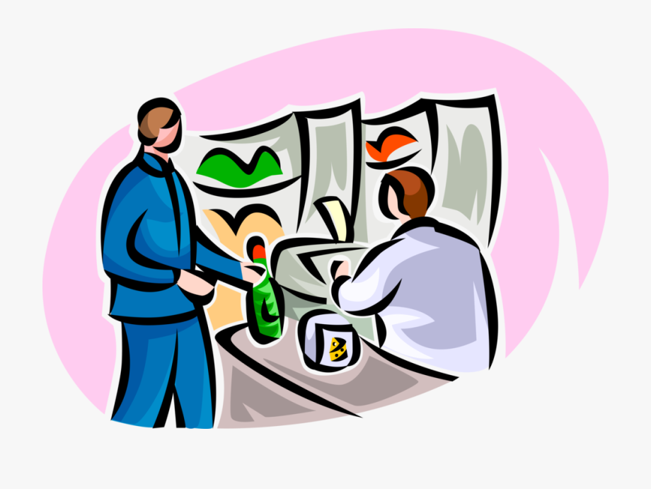 Cashier Clipart Grocery Bagger.