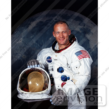 Picture of Astronaut Buzz Aldrin.