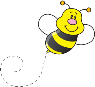 Bee clip art images free.