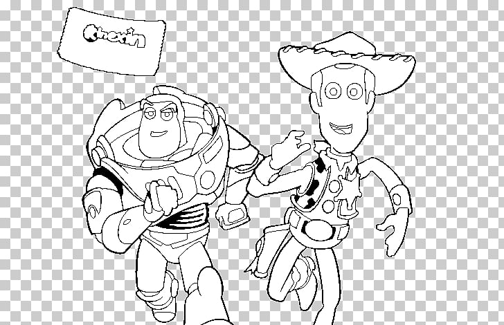 Buzz Lightyear Sheriff Woody Coloring book Colouring Pages.
