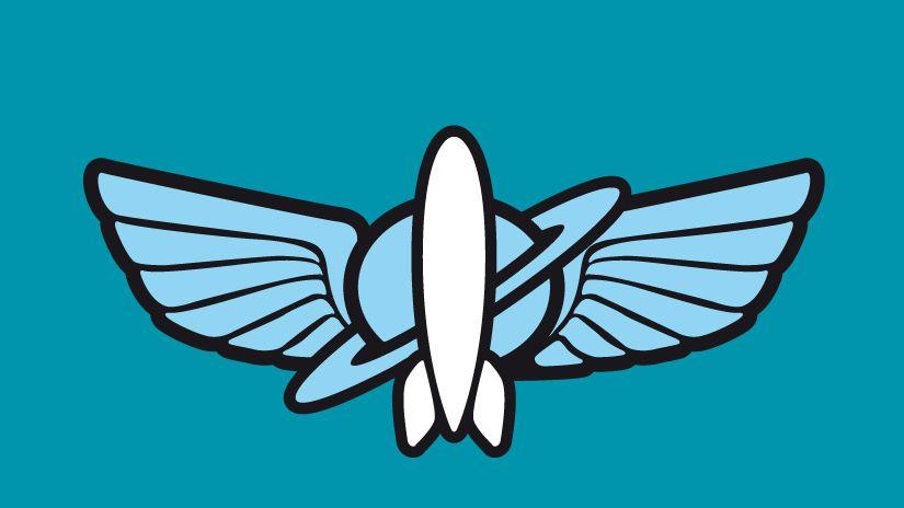 Buzz Lightyear Space ranger logo.