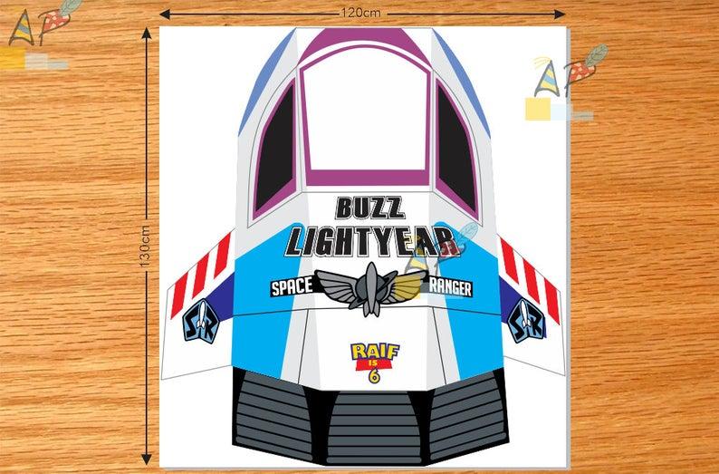 Toy Story Buzz Lightyear Spaceship decoration DIY Digital file/Printable..