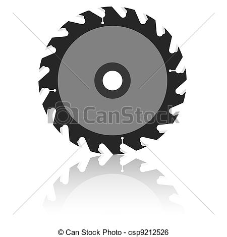 Clip Art Vector of Circular saw blade on a white background.