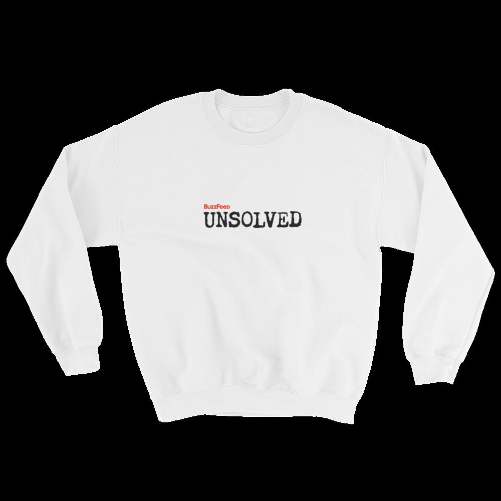 BuzzFeed Unsolved Logo Sweatshirt.