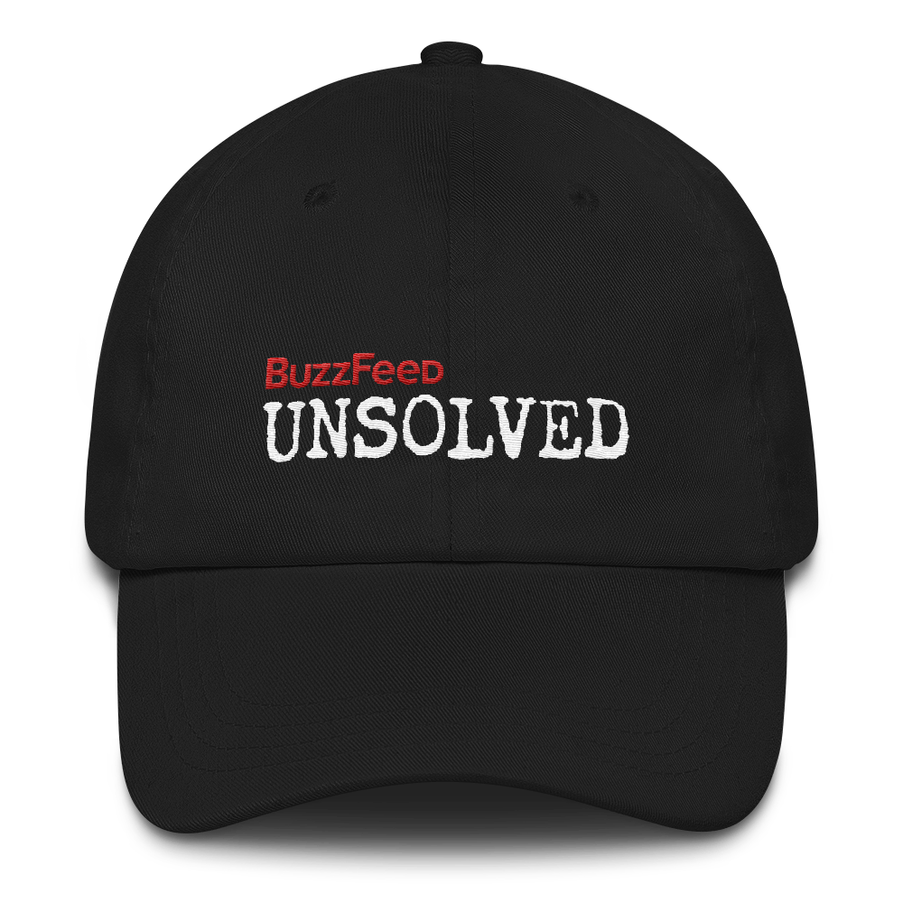 BuzzFeed Unsolved Logo Dad hat.