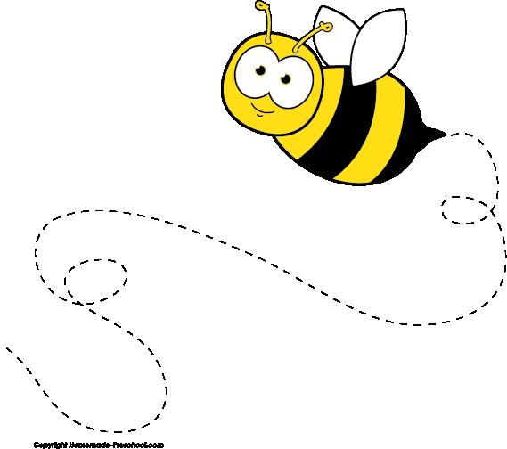 Clipart Bee Buzzing.