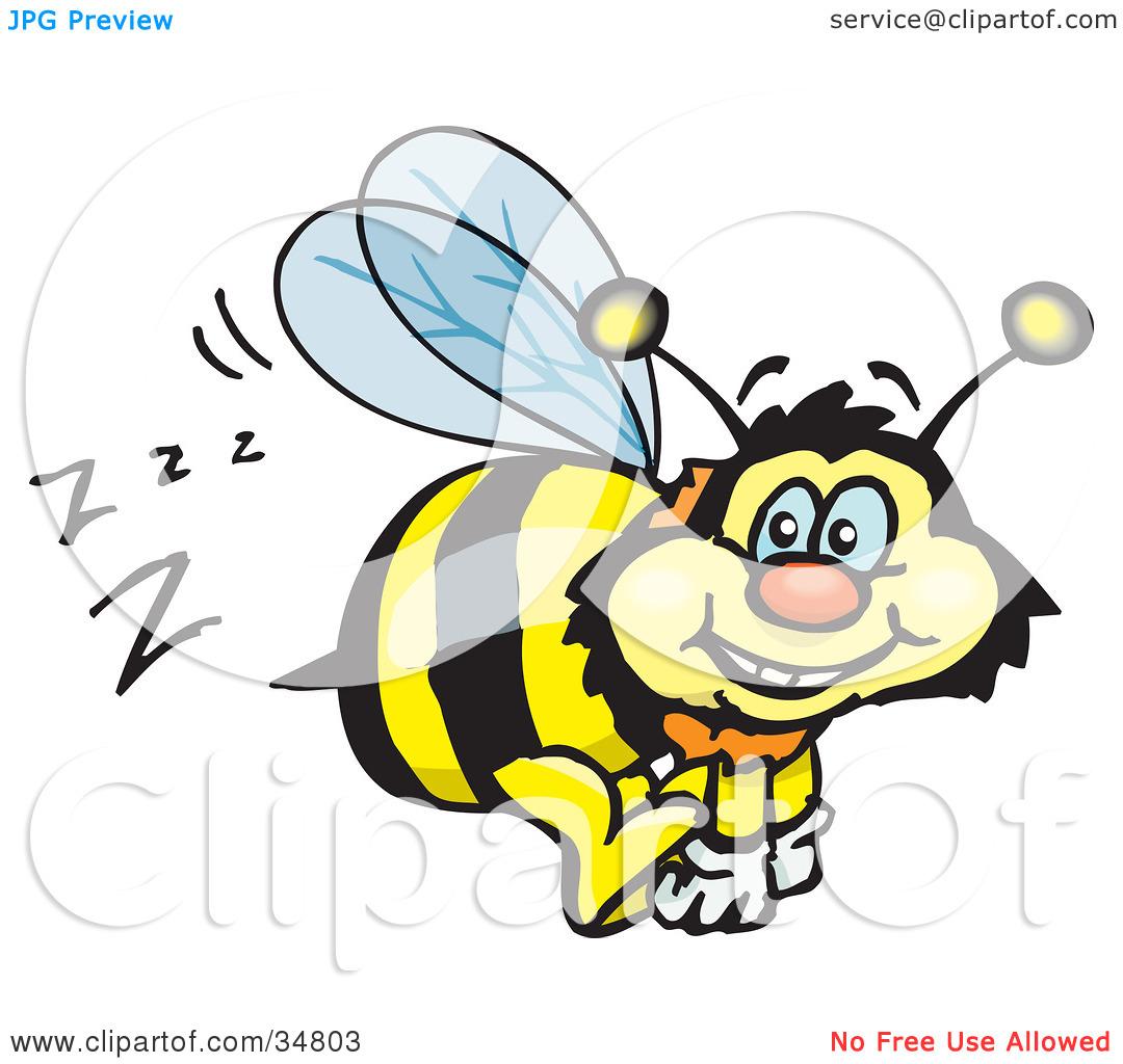 Buzzing Bee Clipart.