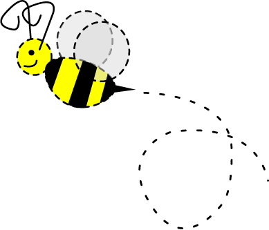Bee trail clipart.