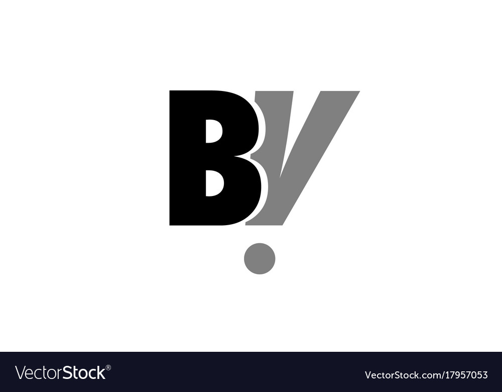 Bv b v black white grey alphabet letter logo icon.