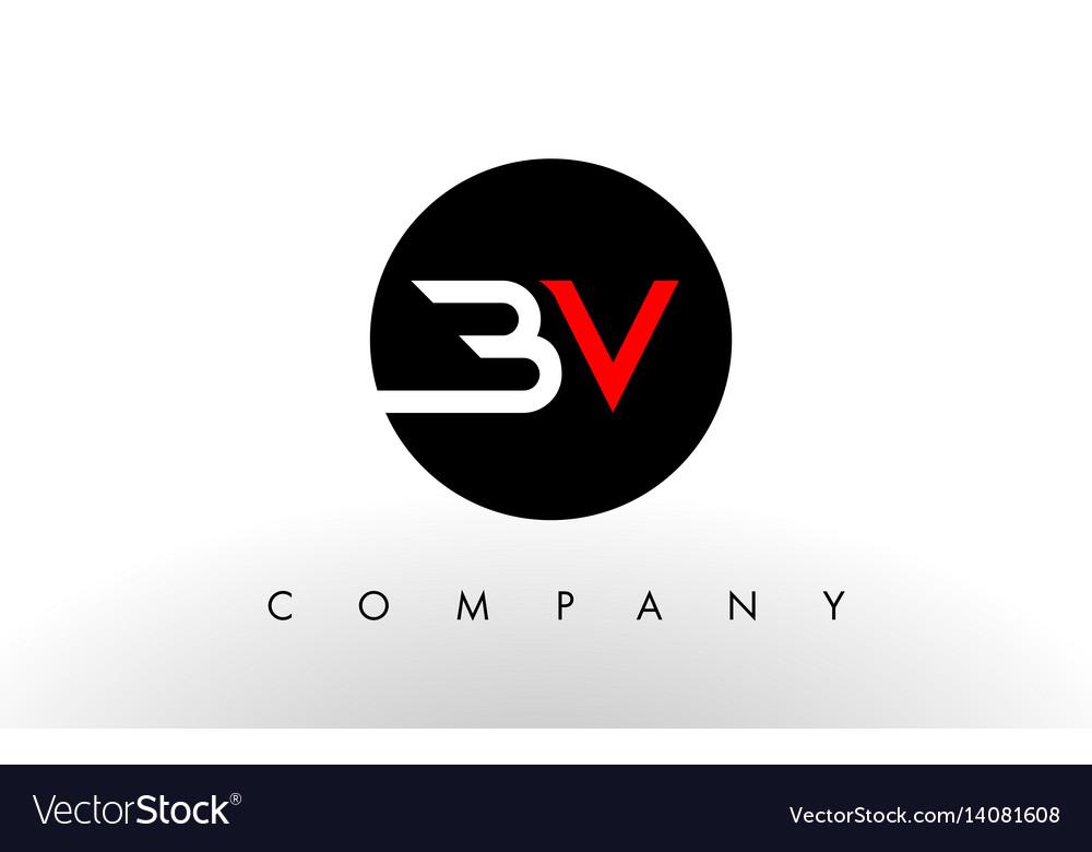 Bv logo letter design.