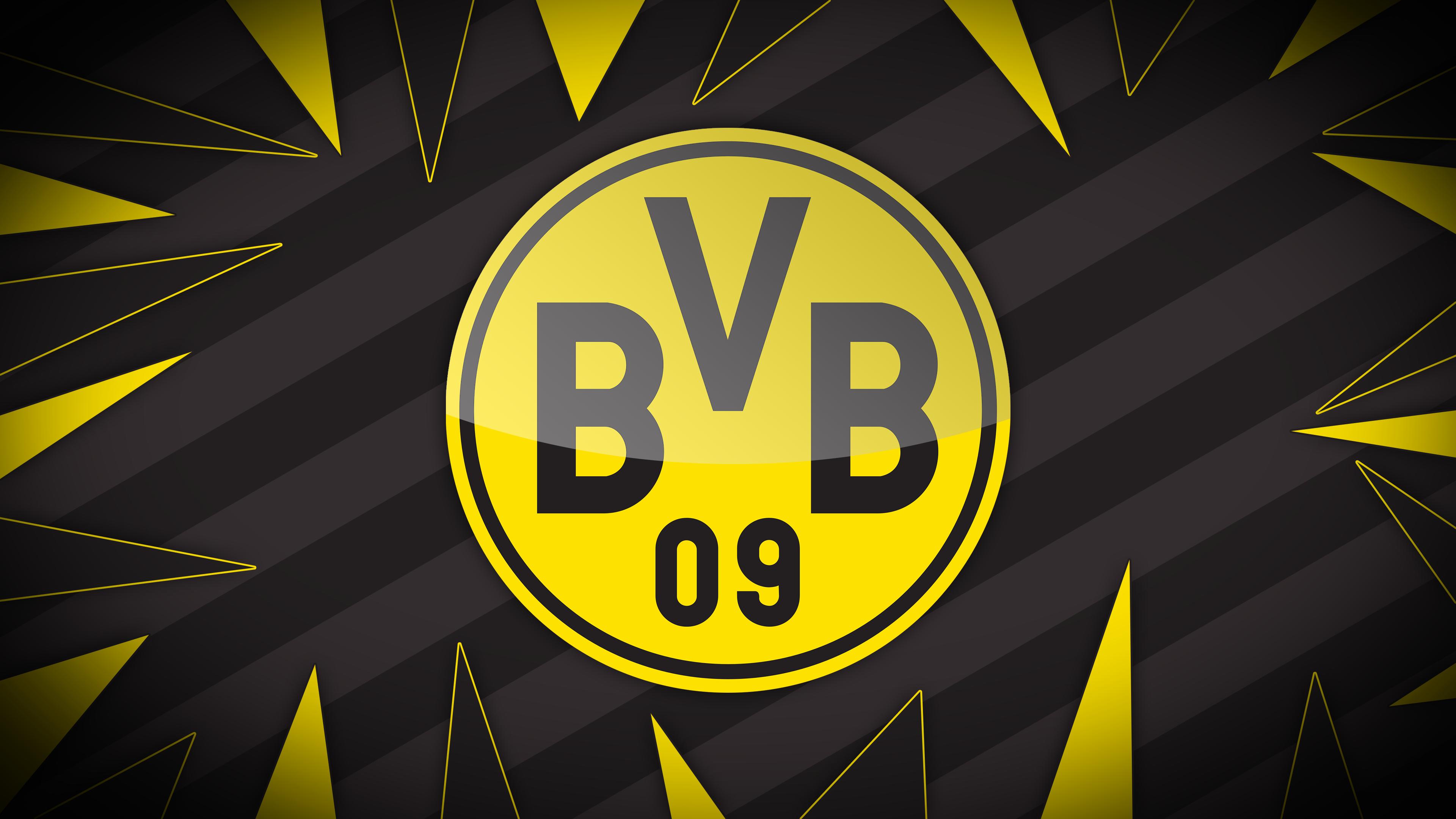 5048023 3840x2160 Logo, Soccer, BVB, Emblem, Borussia Dortmund.