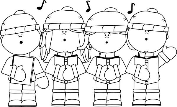 Black and White Christmas Clip Art.
