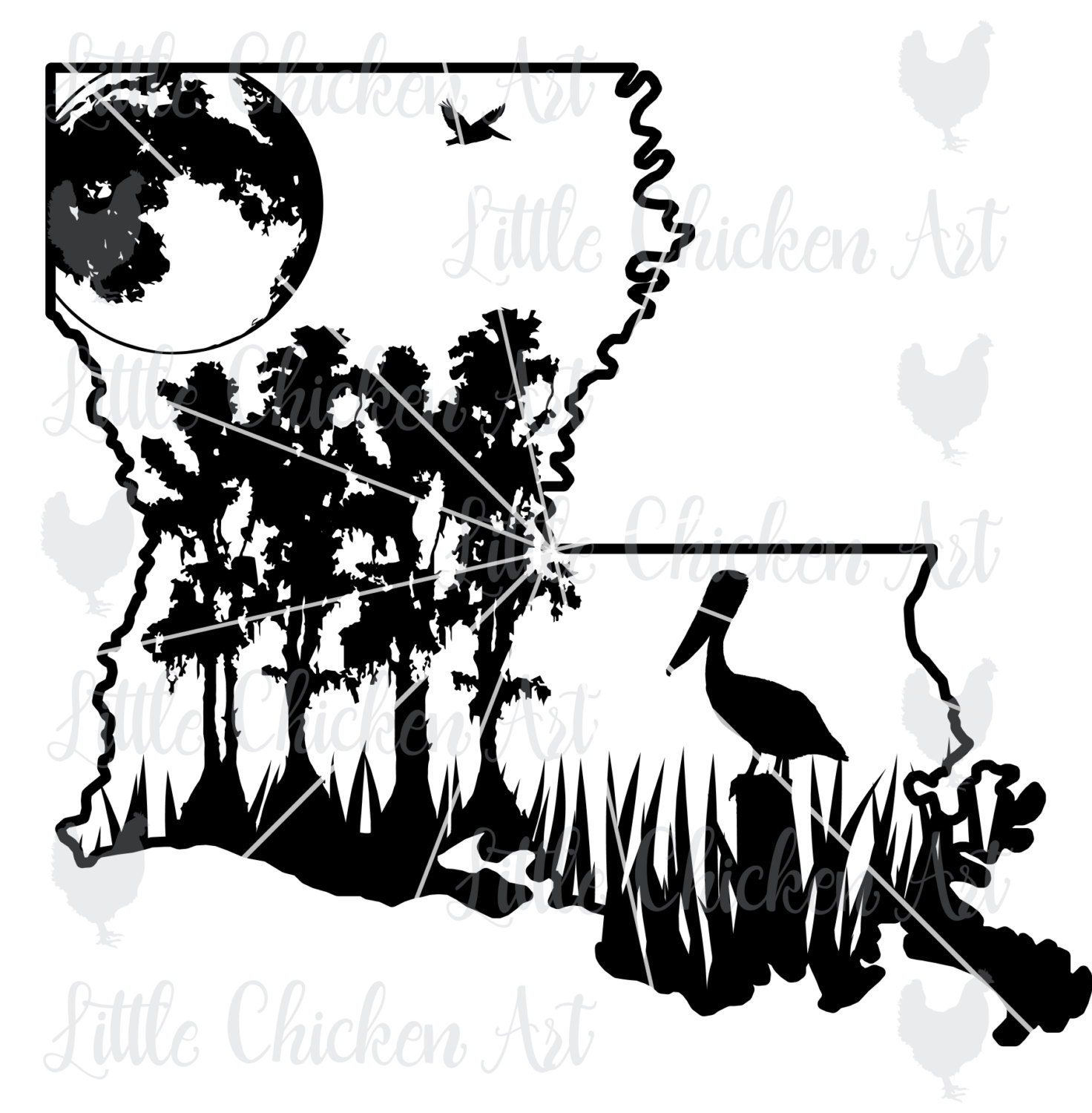 158 Swamp free clipart.