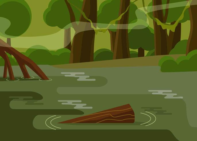 Bayou Illustration Vector.