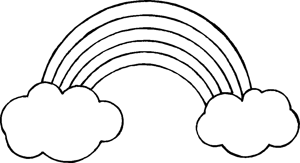 136 Rainbow Black And White free clipart.