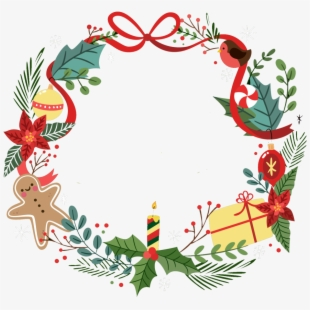Christmas Wreath Border Clip Art Black And White Library.
