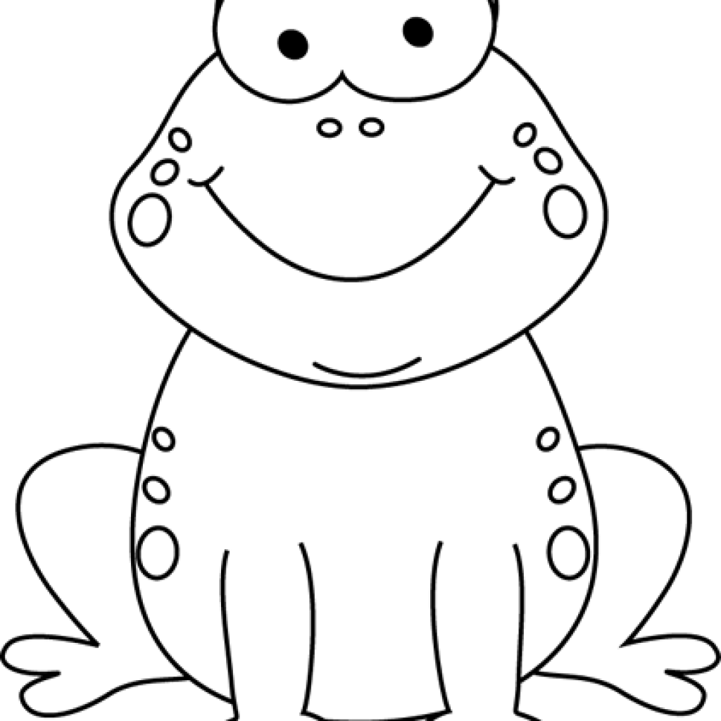 Clipart frog black and white, Clipart frog black and white.